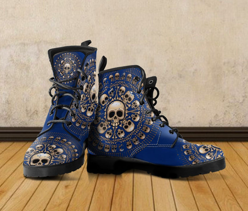 Skull Obsession Men's Colored Skulls & Bones Boots