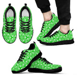 Skull Obsession Men's Sneakers - Black - Green & Black / US5 (EU38) Colorful SKULL Men's Sneakers