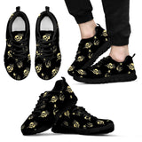 Skull Obsession Men's Sneakers - Black - light yellow / US5 (EU38) SKELETON & ROSES SNEAKERS