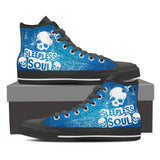 Skull Obsession Mens High Top - Black - BLUE / Men US8 (EU40) SLEEPLESS SOUL High Tops