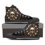 Skull Obsession Mens High Top - Black - M BLACK / Men US8 (EU40) Skulls & Bones High Top