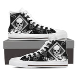 Skull Obsession Mens High Top - White - Black / Men US8 (EU40) Skull High Top Canvas Shoe ii