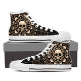 Skull Obsession Mens High Top - White - W WHITE / Men US8 (EU40) Skulls & Bones High Top