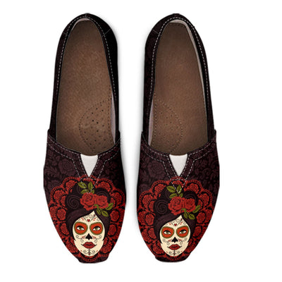 Skull Obsession MEXICAN SKULL GIRL Women's Casual Shoes