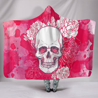 Skull Obsession Pink Skull Hooded Blanket