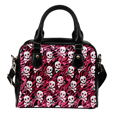 Skull Obsession Pink Skulls Shoulder Handbag