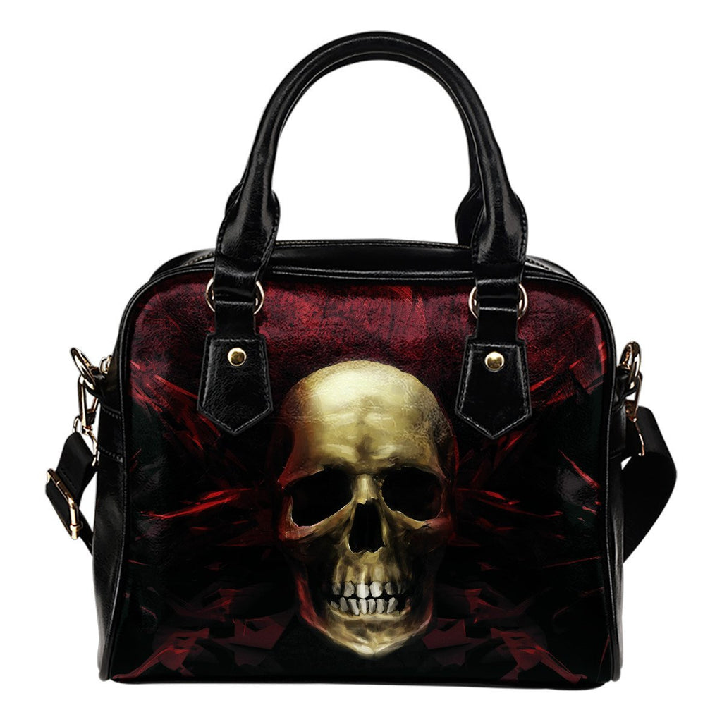 Skull Obsession Red Angry Skull Handbag