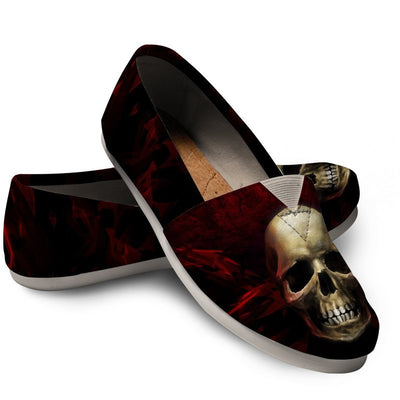 Skull Obsession Red angry Skull Women's Casual Shoes