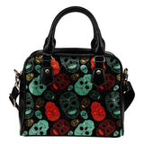Skull Obsession Red & Black Sugar Skull Handbag
