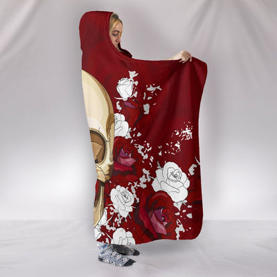 Skull Obsession Red Skull Hooded Blanket