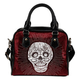 Skull Obsession Red Wine Sugar Skull Handbag ii