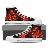 Skull Obsession Shoes Mens High Top - White - 102 / US8 (EU40) Ghost Rider Men High Tops