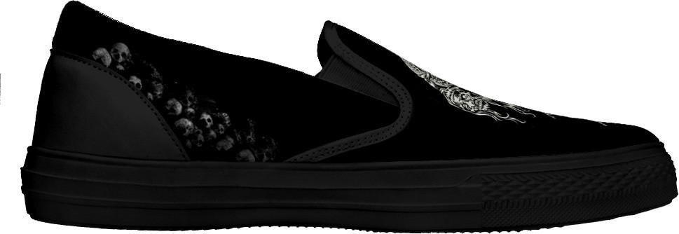 Skull Obsession Shoes Skeleton Dream Catcher Slip Ons