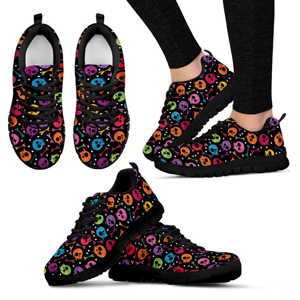 Colorful Skulls Sneakers - Skull Obsession