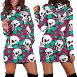 Skull Obsession Skull and flowers Hoodie Dress
