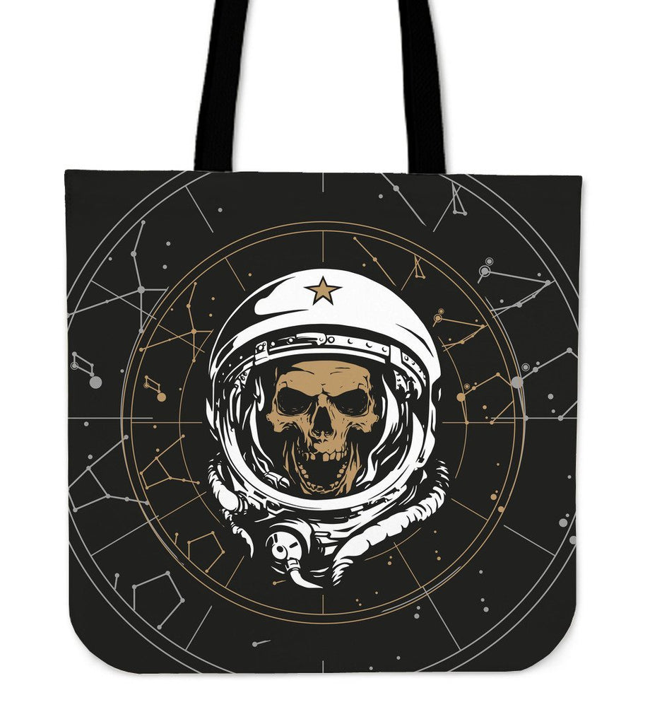 Skull Obsession Skull Astronaut Tote Bags