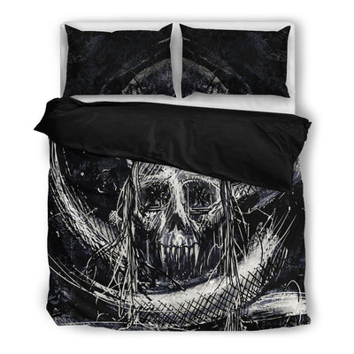 Skull Obsession Skull & Snake Punk Bedding Set