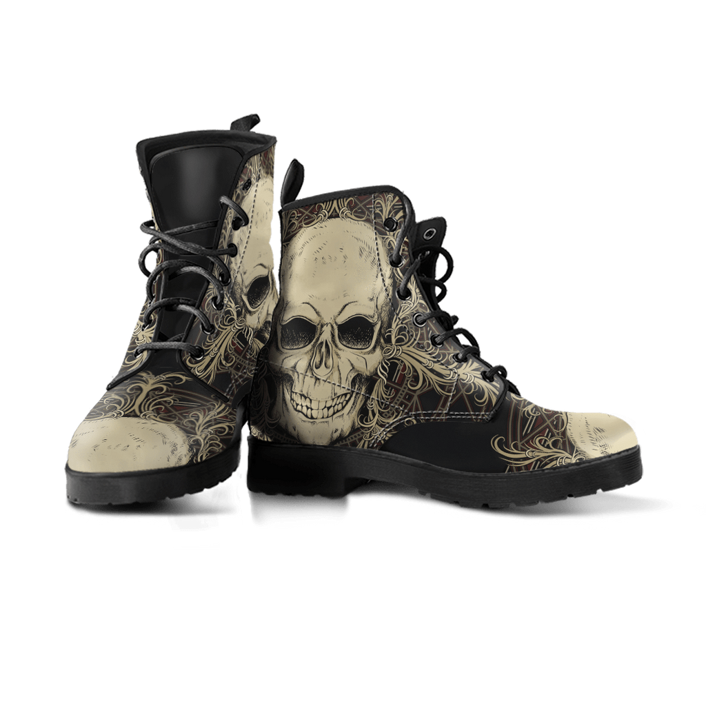 Skull Obsession Skull with Ornamental Composition Boots