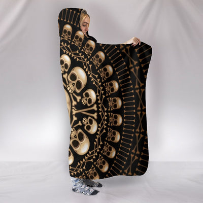 Skull Obsession Skulls & Bones Hooded Blanket