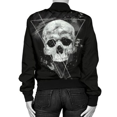 Skull Obsession Triangle Skull Bomber Jacket