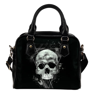 Skull Obsession Triangle Skull  Shoulder Handbag