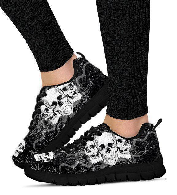 Skull Obsession Triple Skull Women's Sneakers I