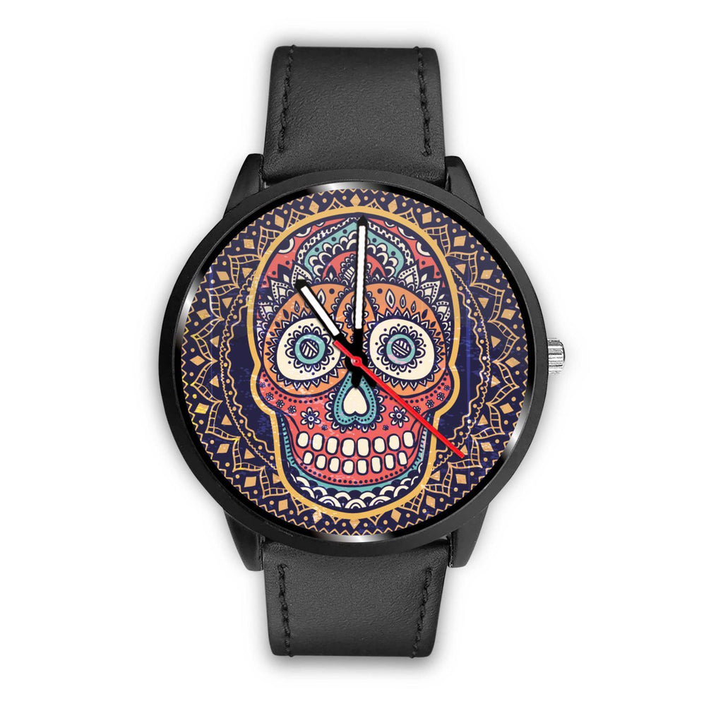 Skull Obsession Watch Mens 40mm / Black Vintage Colored Skull Watch