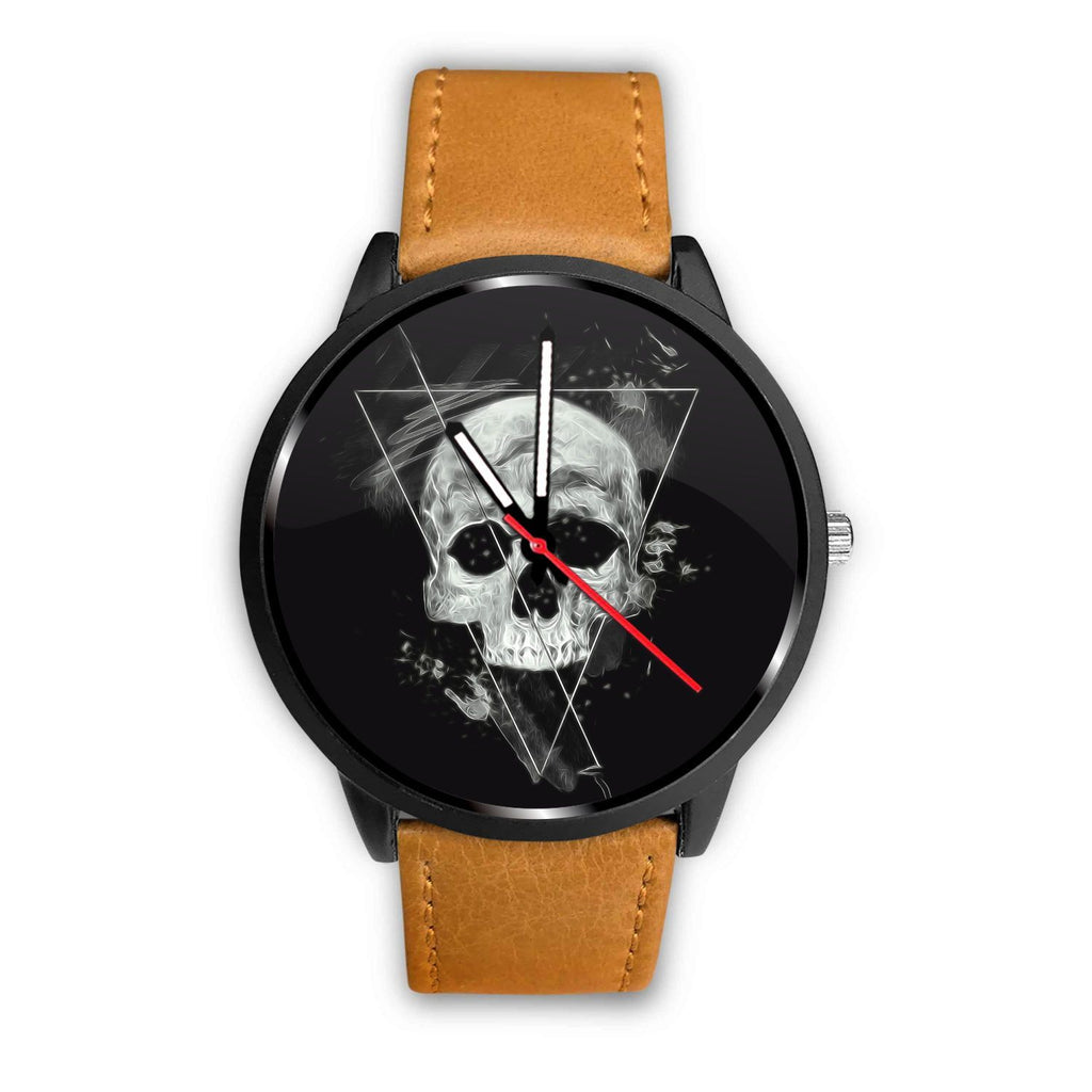 Skull Obsession Watch Mens 40mm / Brown Triangle Skull Watch