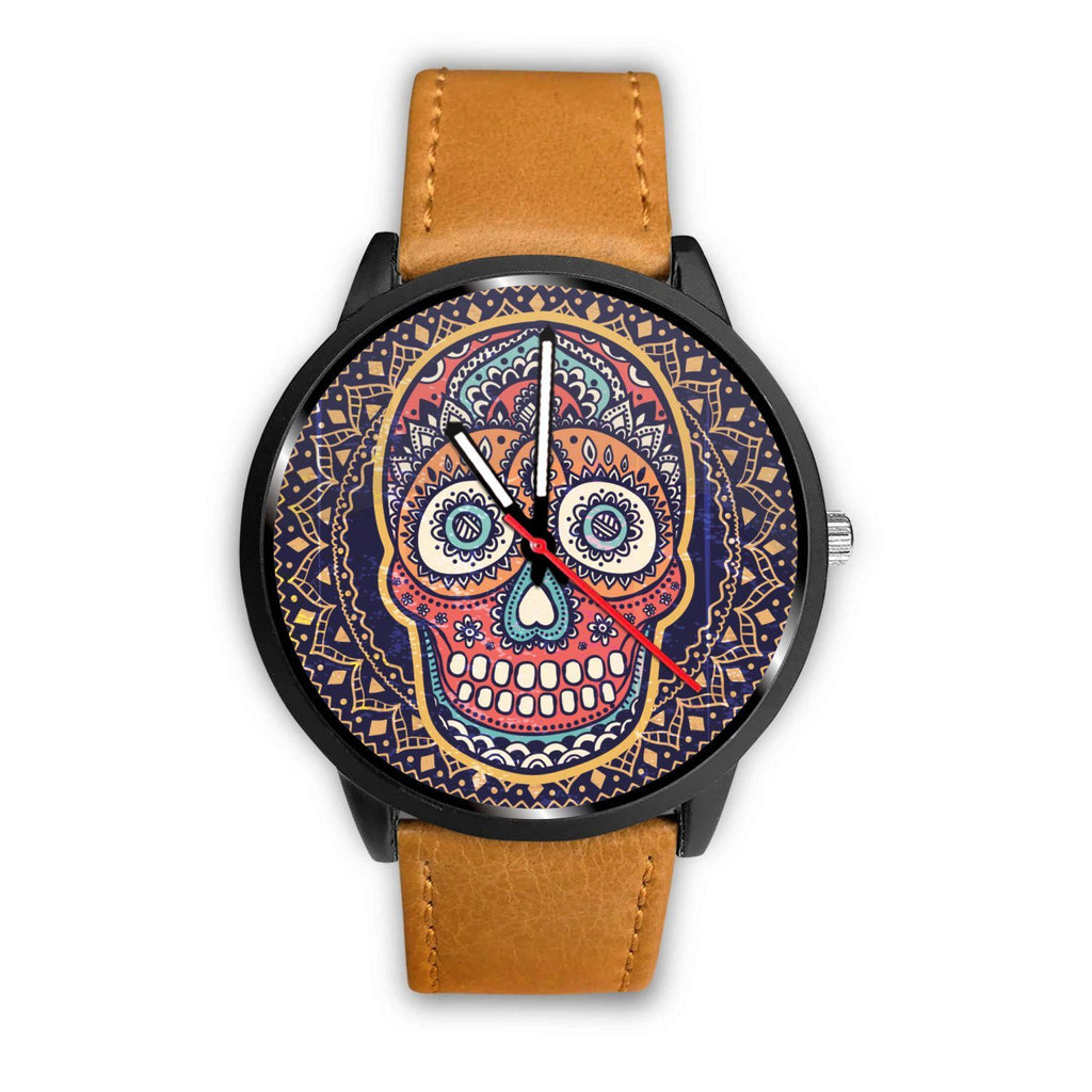 Skull Obsession Watch Mens 40mm / Brown Vintage Colored Skull Watch