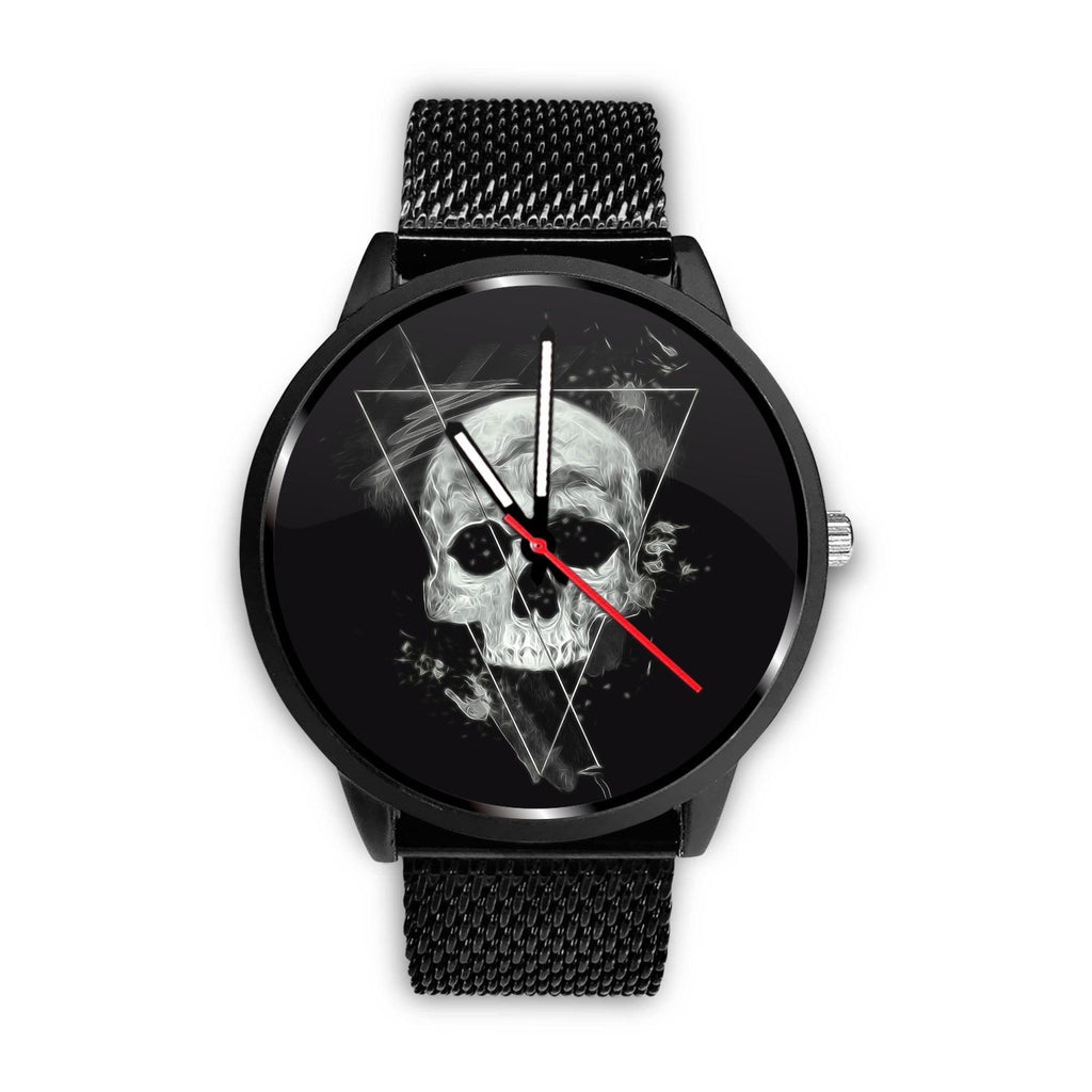 Skull Obsession Watch Mens 40mm / Metal Mesh Triangle Skull Watch