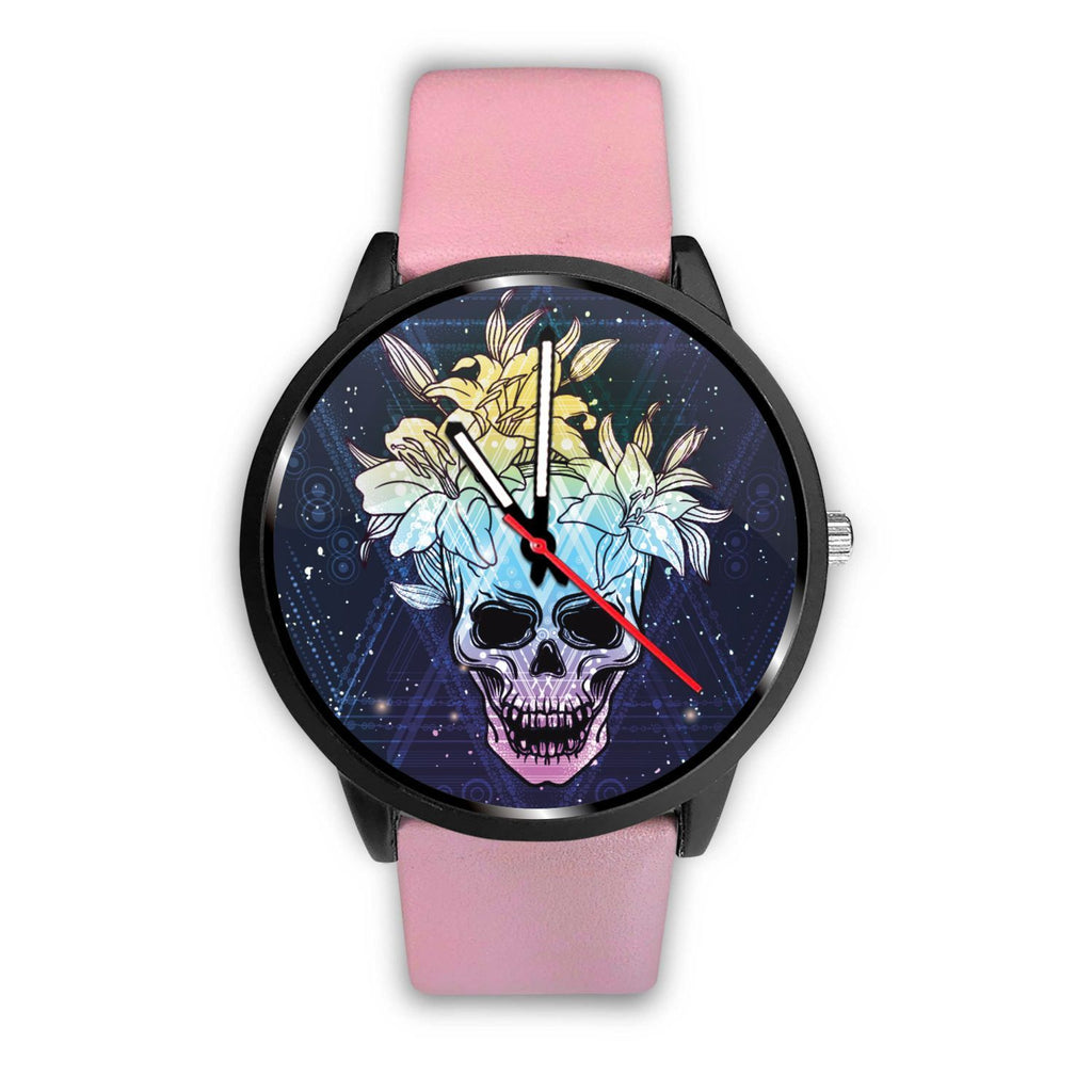 Skull Obsession Watch Mens 40mm / Pink Skull & Lily Blue Watch