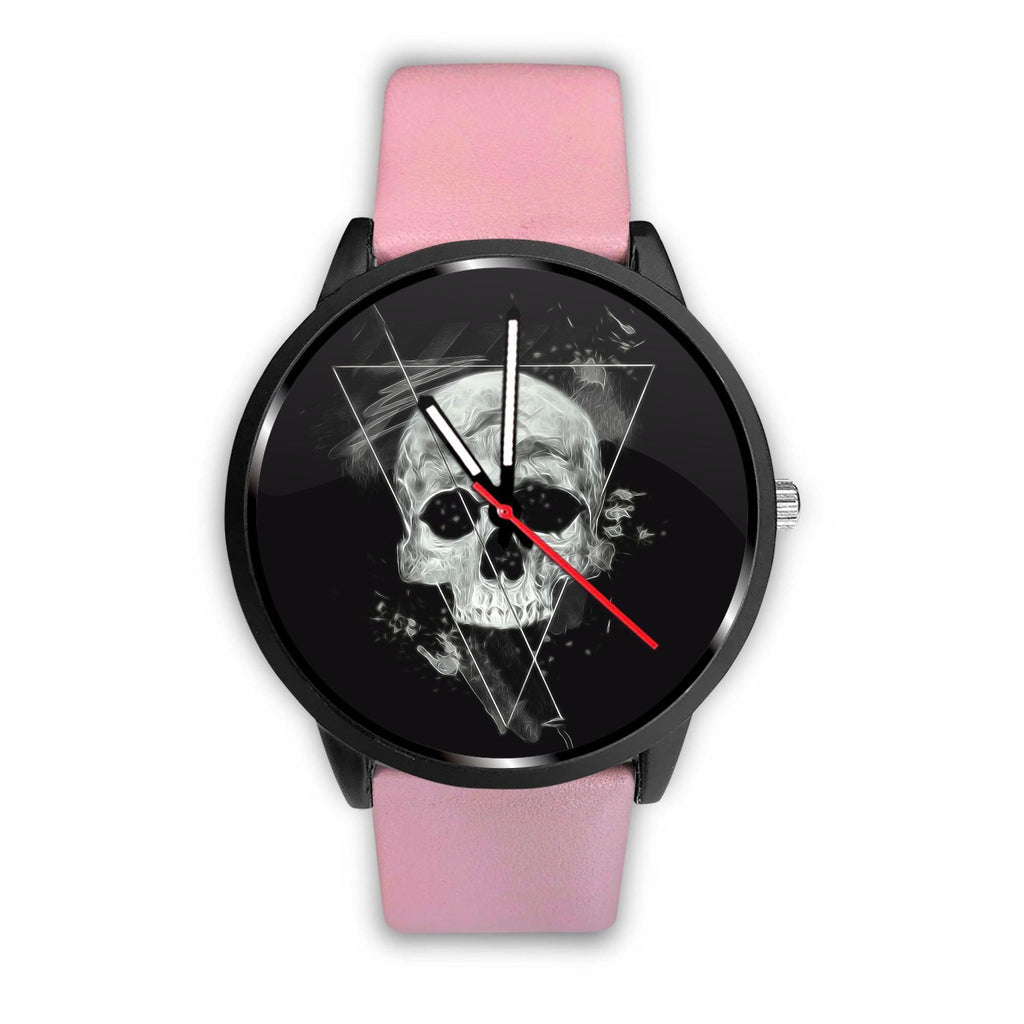 Skull Obsession Watch Mens 40mm / Pink Triangle Skull Watch