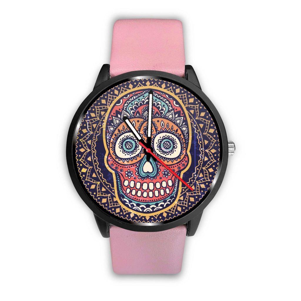 Skull Obsession Watch Mens 40mm / Pink Vintage Colored Skull Watch