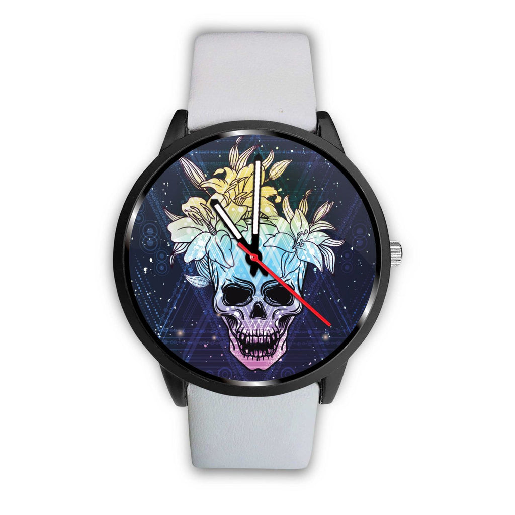 Skull Obsession Watch Mens 40mm / White Skull & Lily Blue Watch