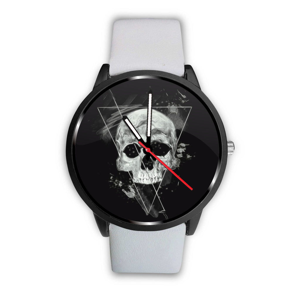 Skull Obsession Watch Mens 40mm / White Triangle Skull Watch
