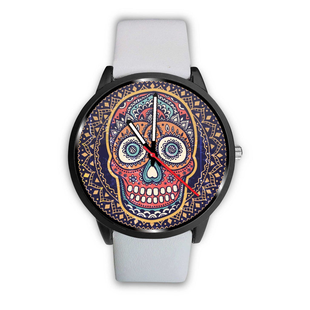 Skull Obsession Watch Mens 40mm / White Vintage Colored Skull Watch