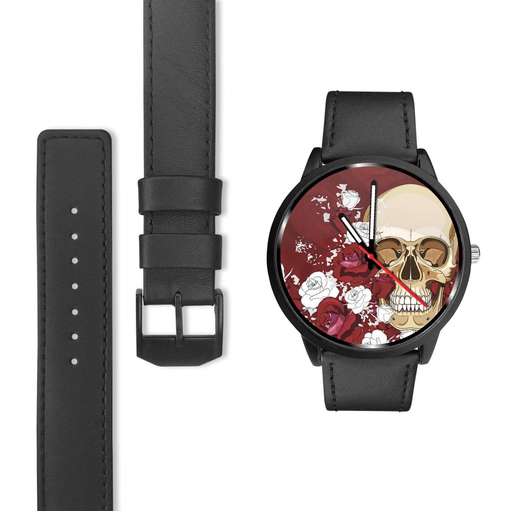 Skull Obsession Watch Red Roses Skull Watch