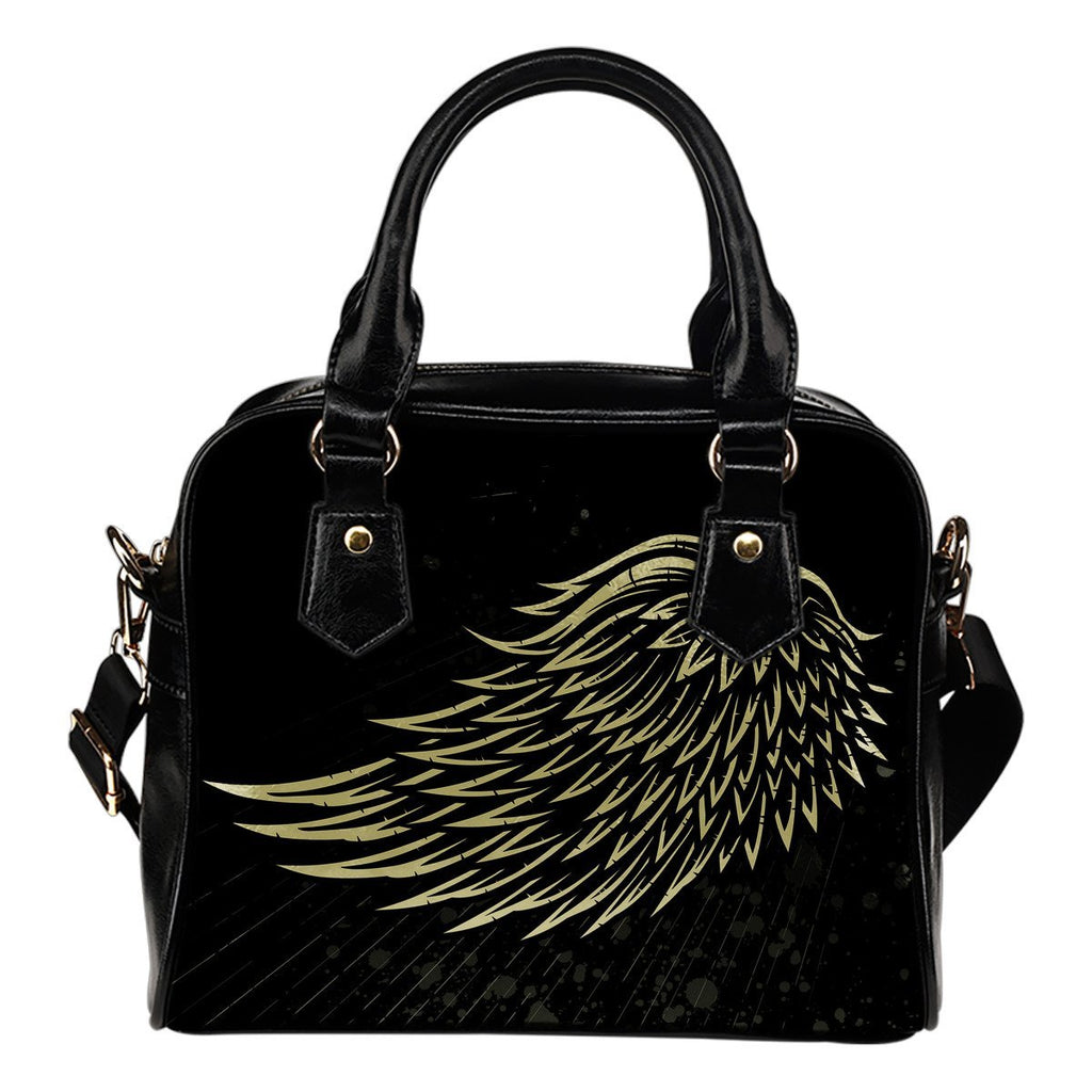Skull Obsession Winged Shoulder Handbag