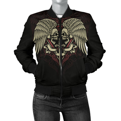Skull Obsession Winged Skull Bomber Jacket