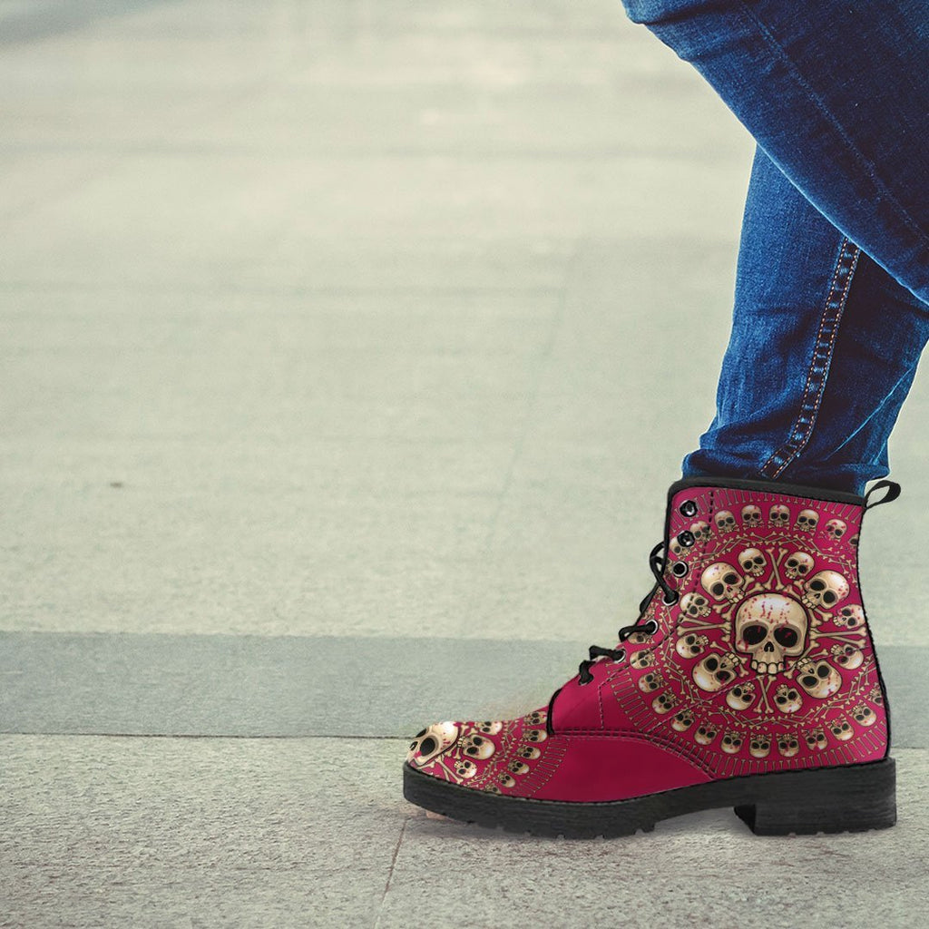 Skull Obsession Women's Colored Skulls & Bones Boots