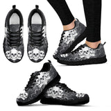 Skull Obsession Women's Sneakers - Black - GRAY JEANS / US5 (EU35) Triple Skull Women's Sneakers I