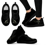 Skull Obsession Women's Sneakers - Black - S / US5 (EU35) Silver Skull Sneakers
