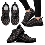 Skull Obsession Women's Sneakers - Black - s1 / Women US5 (EU35) Black Skull Sneakers