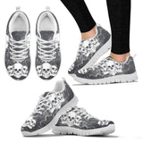 Skull Obsession Women's Sneakers - White - GRAY JEANS / US5 (EU35) Triple Skull Women's Sneakers I
