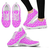 Skull Obsession Women's Sneakers - White - Pink & White / US5 (EU35) Colorful SKULL  Women's Sneakers