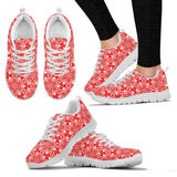 Skull Obsession Women's Sneakers - White - Red & White / US5 (EU35) Colorful SKULL  Women's Sneakers