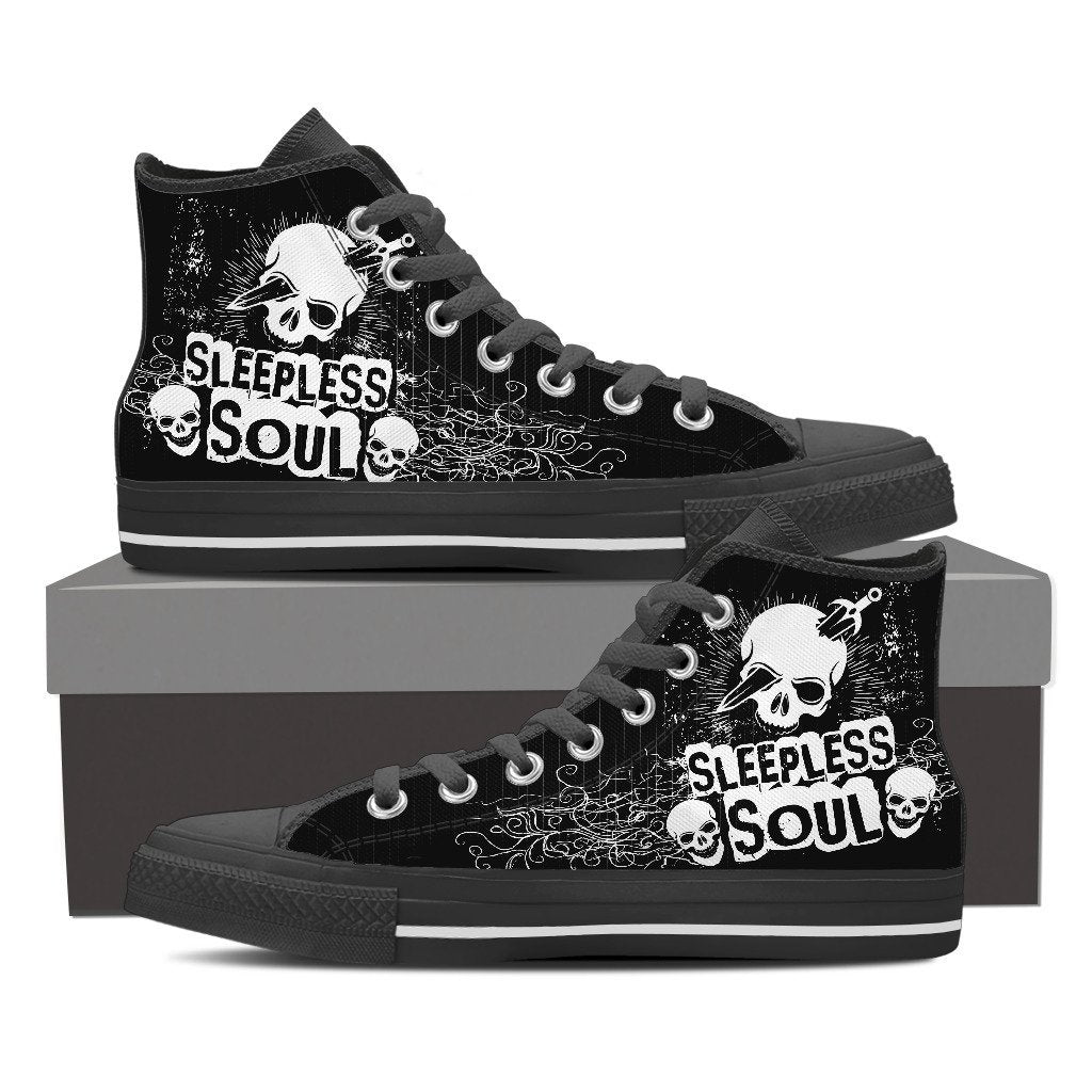 Skull Obsession Womens High Top - Black - BLACK / Women US6 (EU36) SLEEPLESS SOUL High Tops