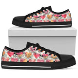 Skull Obsession Womens Low Top - Black - B / US5.5 (EU36) Colorful Skull Women Low Top Shoes