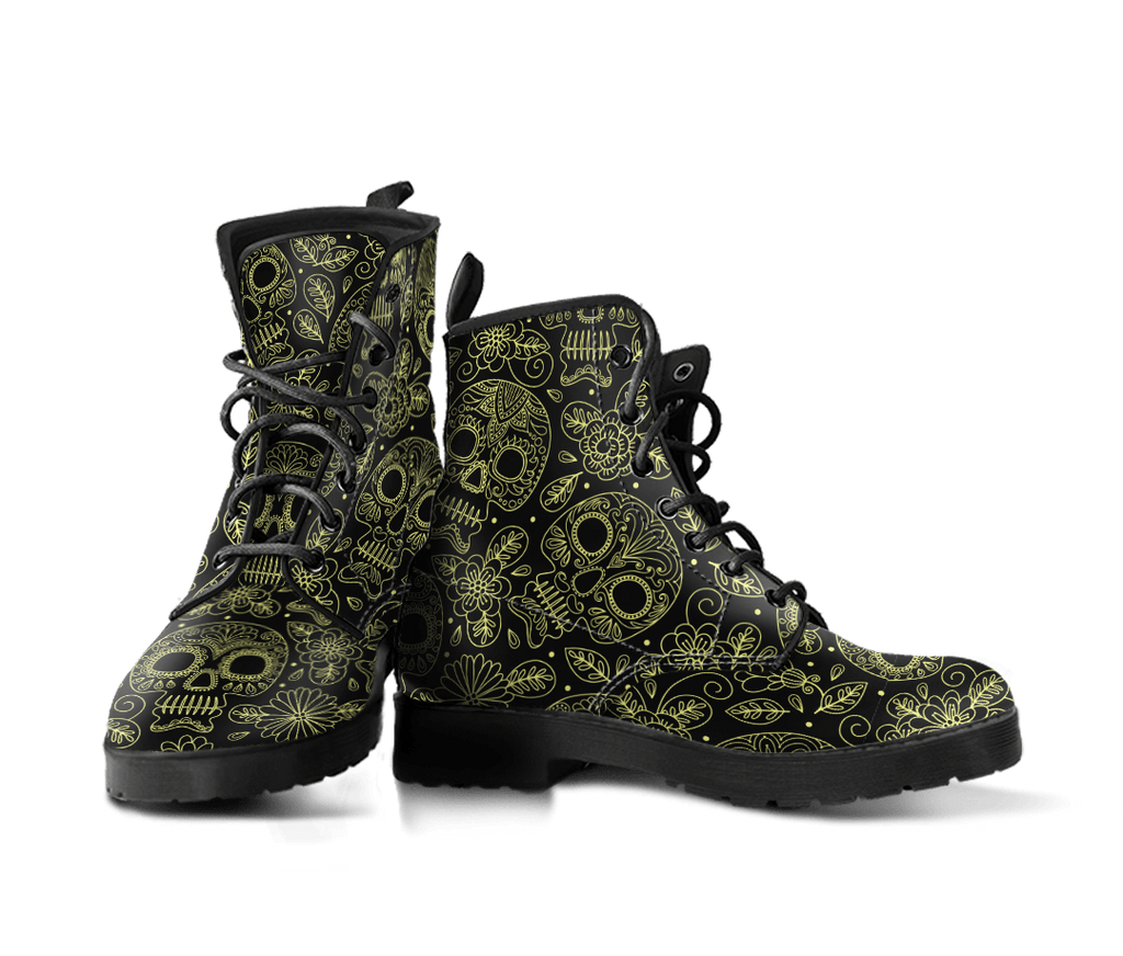 Skull Obsession Yellow Skulls boots