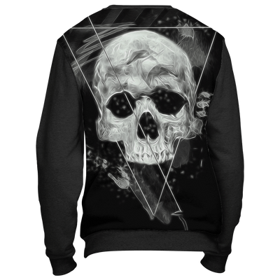 teelaunch Christmas Sweater Big Skull Dark Sweatshirt